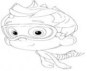 nonny bubble guppies kids mermaid coloring pages