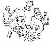 gil molly bubble guppies coloring pages